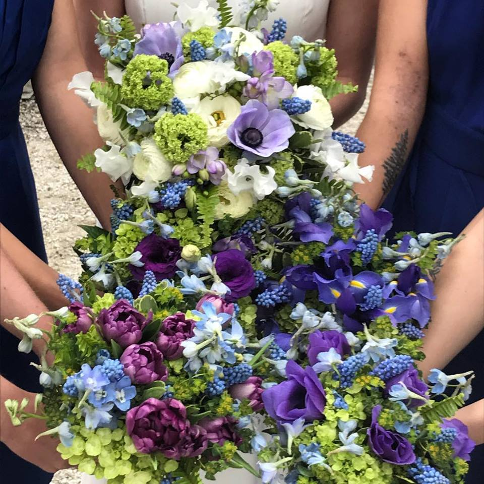 Spring Bridal Party Custom Floral Bouquets