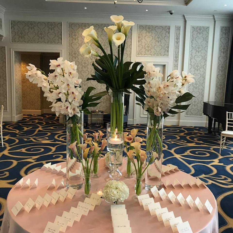 Romantic Fall Wedding Flowers at the Boston Harbor Hotel