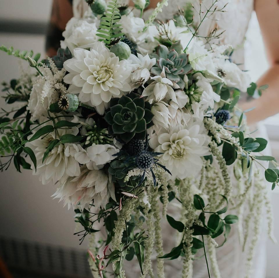 Organic & Ethereal Wedding Bouquet Flowers