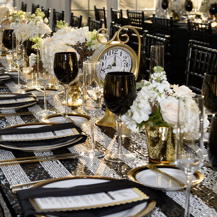 Photograph of New Year's Eve Wedding Flowers & Decor at Tupper Manor
