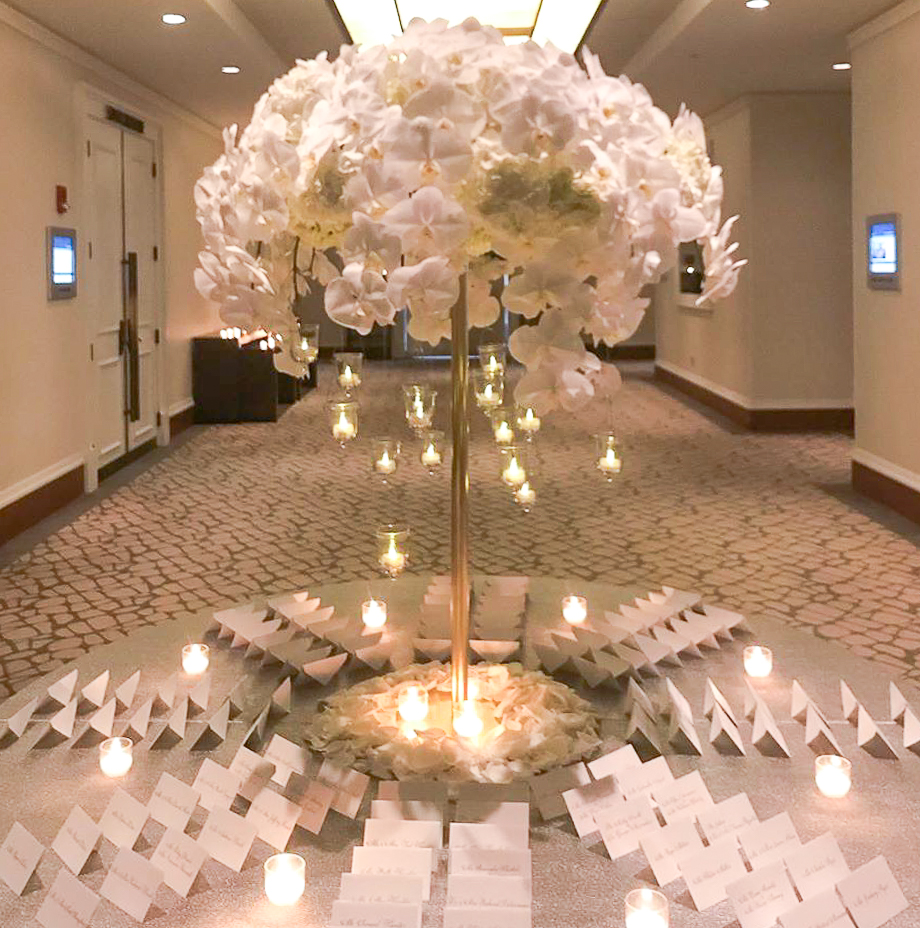 Photograph of NYE Wedding Flowers in Boston