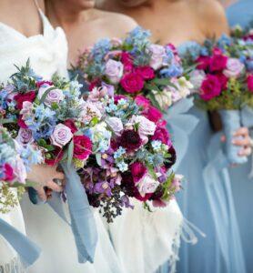 Photograph of Bridal Party Floral Arrangements