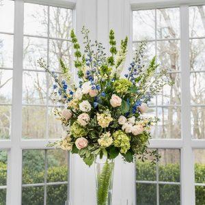 Spring wedding floral arrangement
